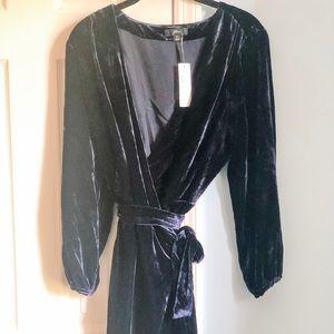 J. Crew Velvet Wrap Dress